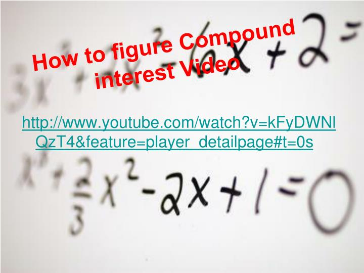 How to figure compound interest video
