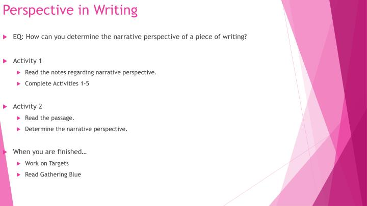 Perspective in Writing
