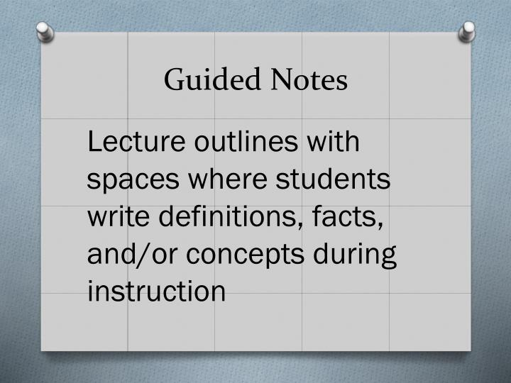 Guided Notes