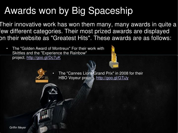 Awards won by Big Spaceship