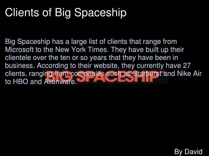 Clients of Big Spaceship