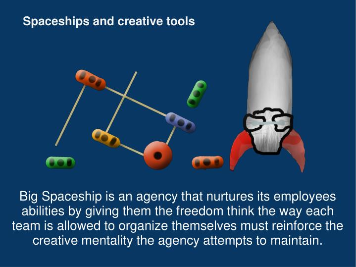 Spaceships and creative tools