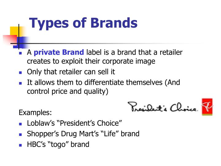 Types of Brands