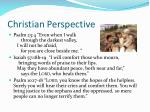 christian perspective