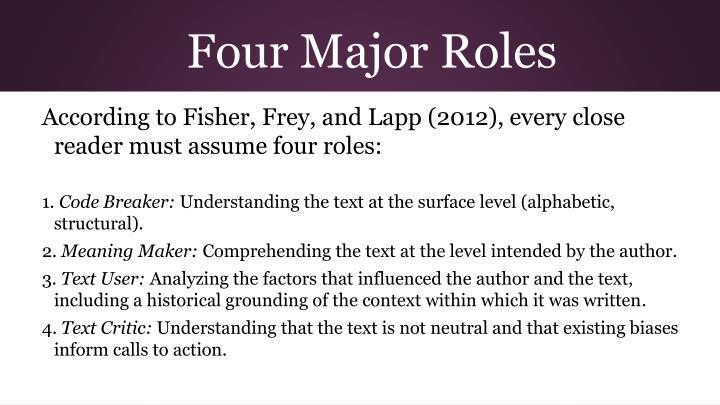 Four Major Roles