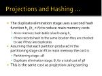projections and hashing1