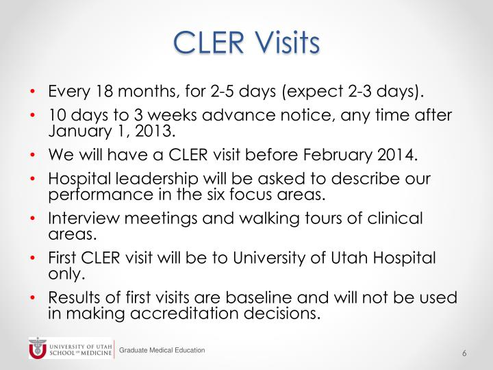 CLER Visits