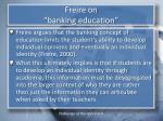freire on banking education