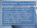 teacher identity student identity