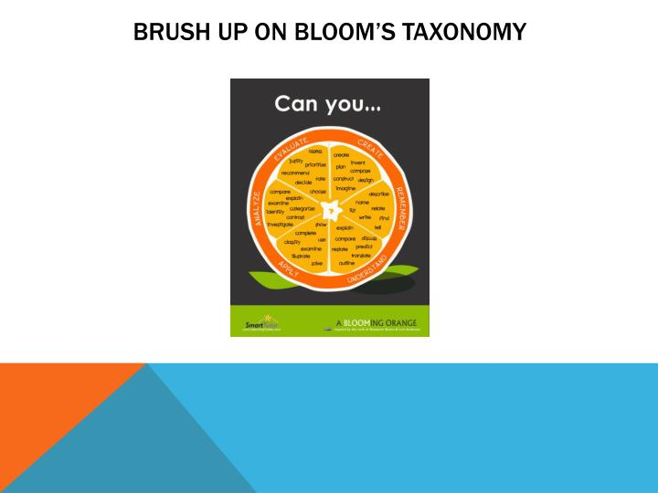 Brush Up On Bloom's Taxonomy