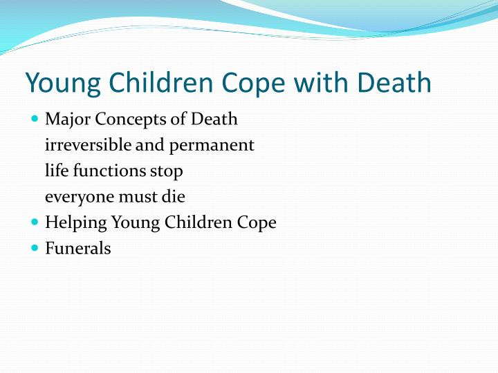 Young Children Cope with Death