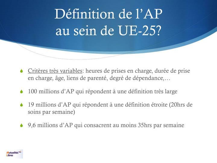 Définition de l'AP