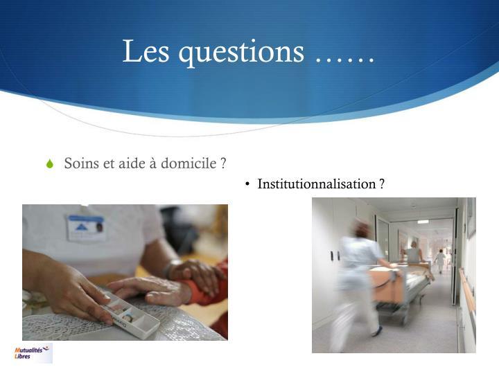 Les questions ……