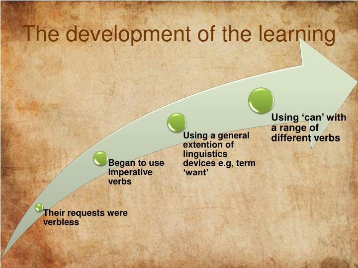 The development of the learning