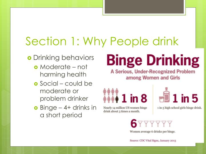 Section 1 why people drink1