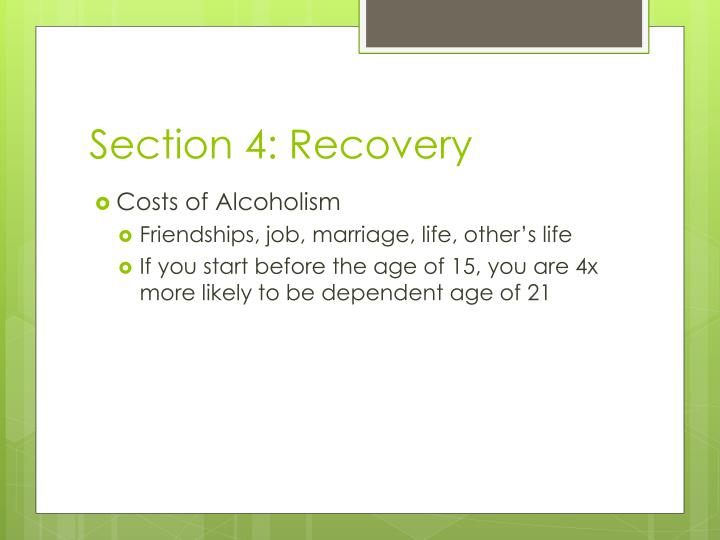 Section 4: Recovery