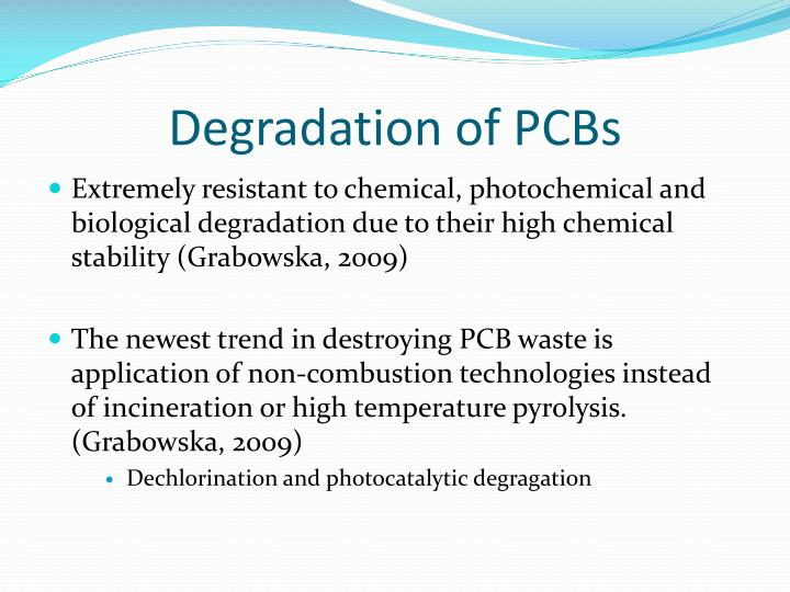 Degradation of PCBs