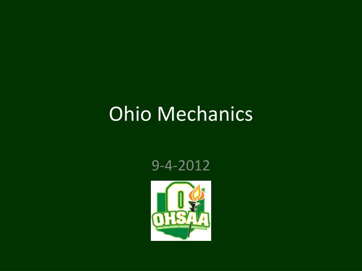 Ohio mechanics