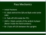 pass mechanics