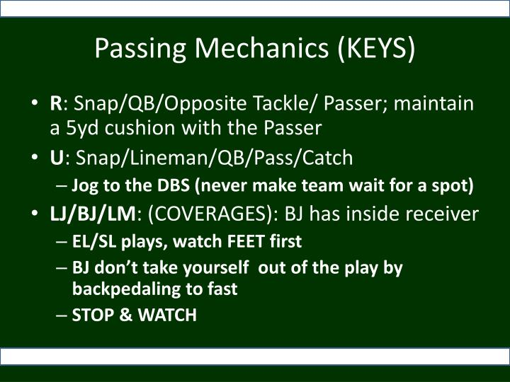 Passing Mechanics (KEYS)