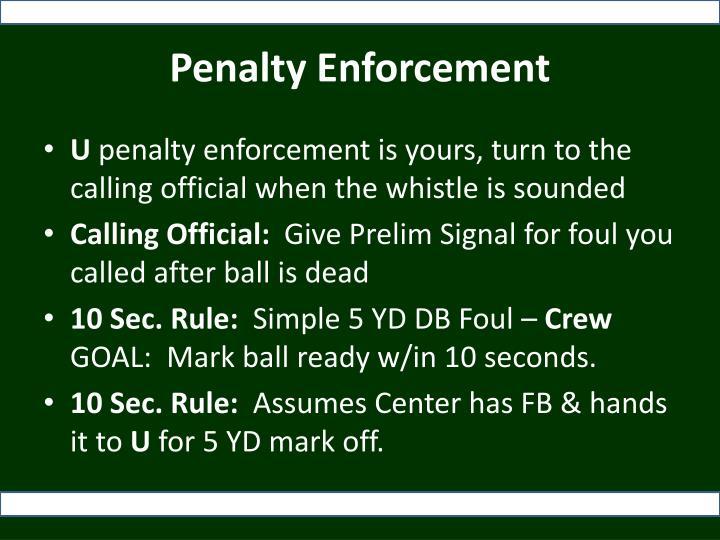 Penalty Enforcement
