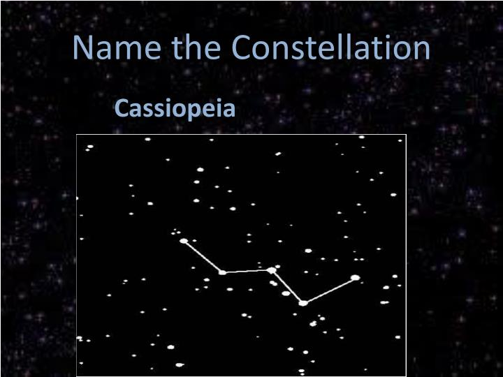 Name the Constellation