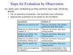 steps for evaluation by observation2