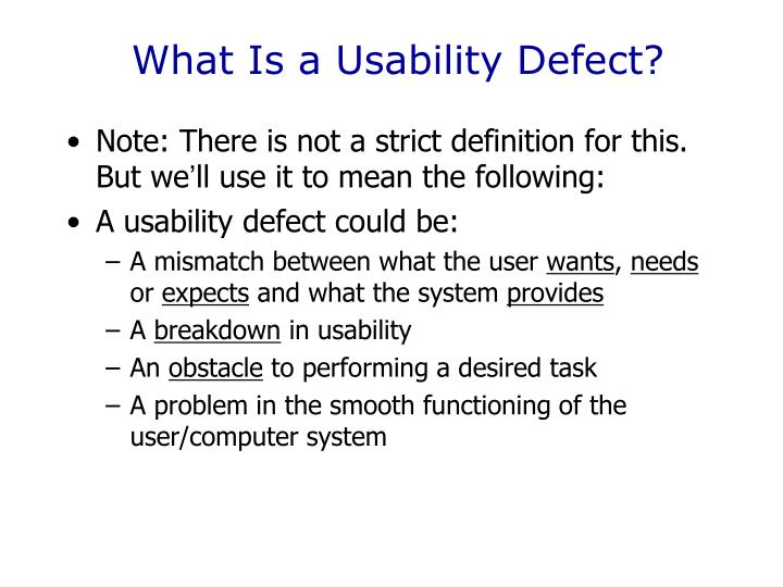 What Is a Usability Defect?