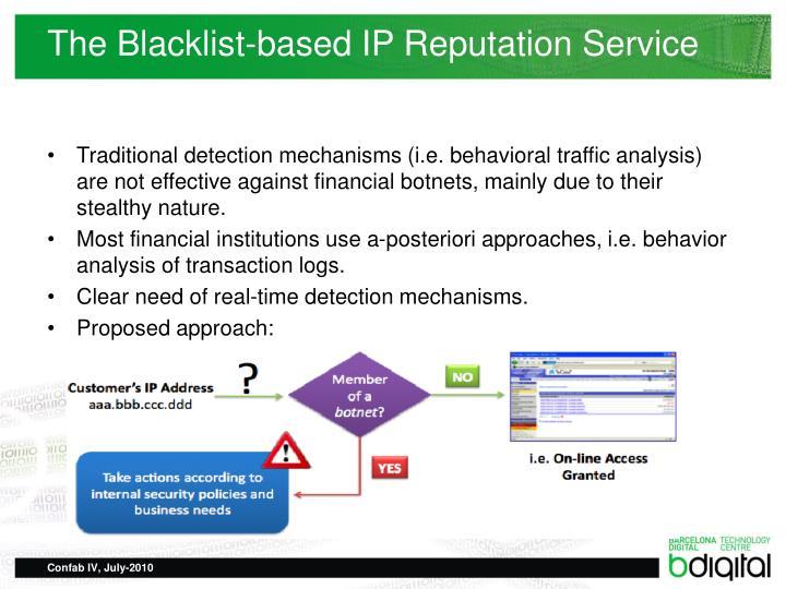The Blacklist-based IP Reputation Service