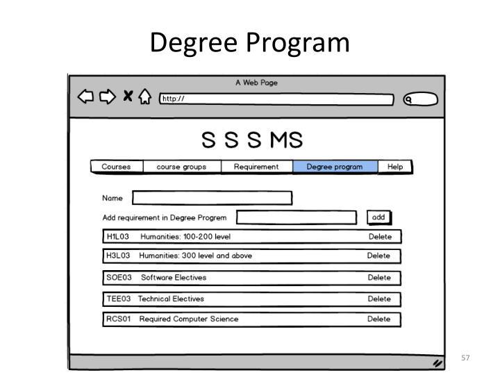 Degree Program