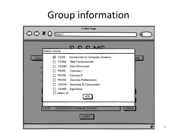 Group information