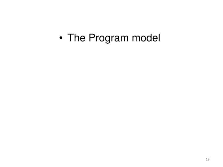 The Program model