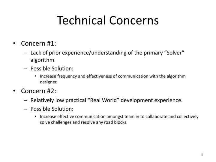 Technical Concerns