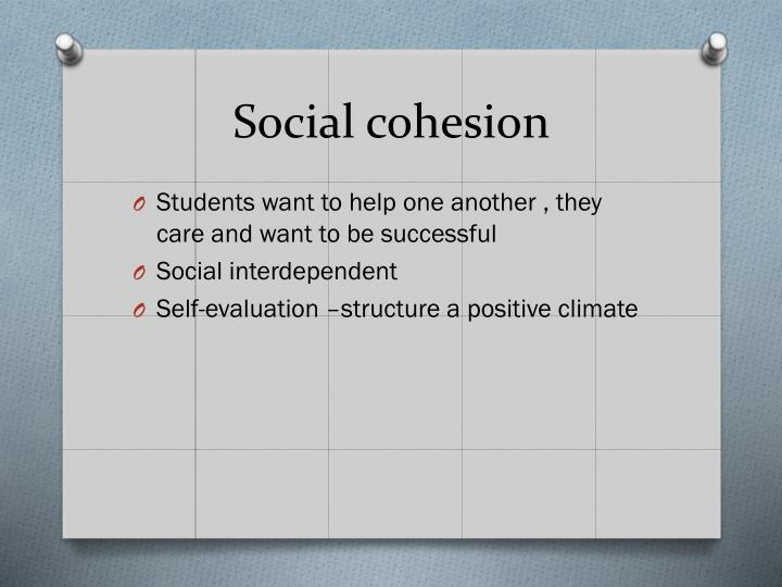 Social cohesion