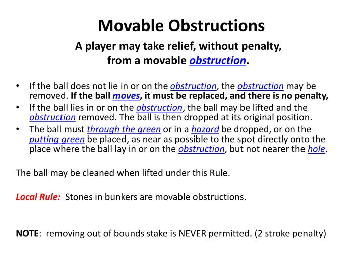 Movable Obstructions