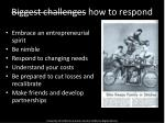 biggest challenges how to respond
