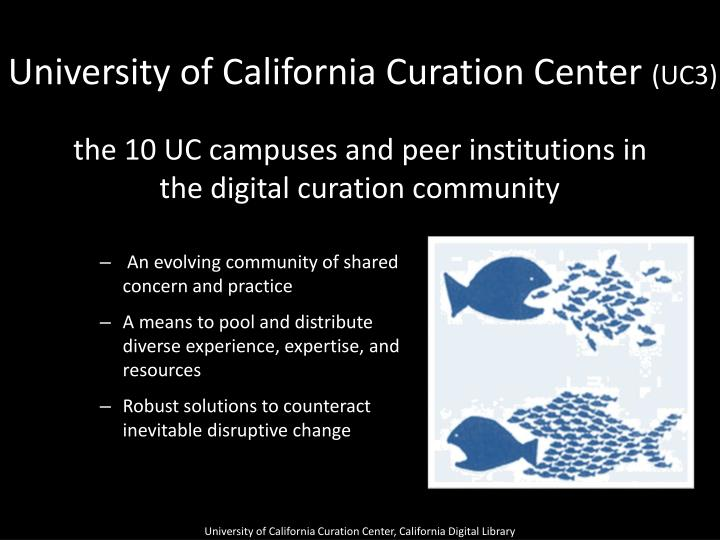 University of California Curation Center
