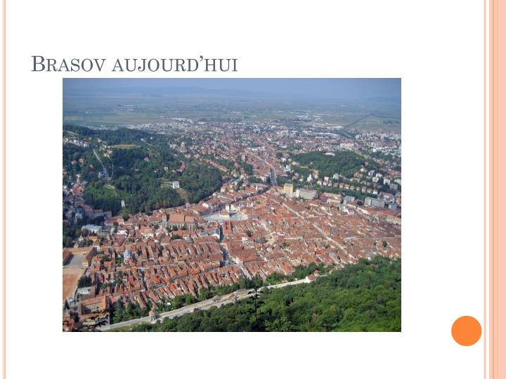 Brasov aujourd'hui