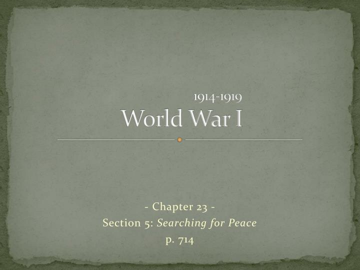 1914-1919