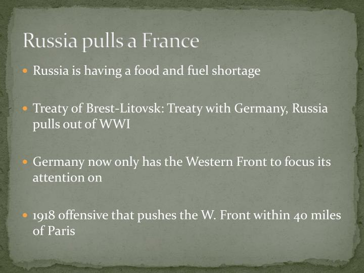 Russia pulls a France