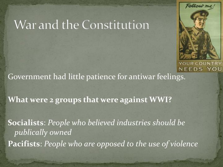War and the Constitution