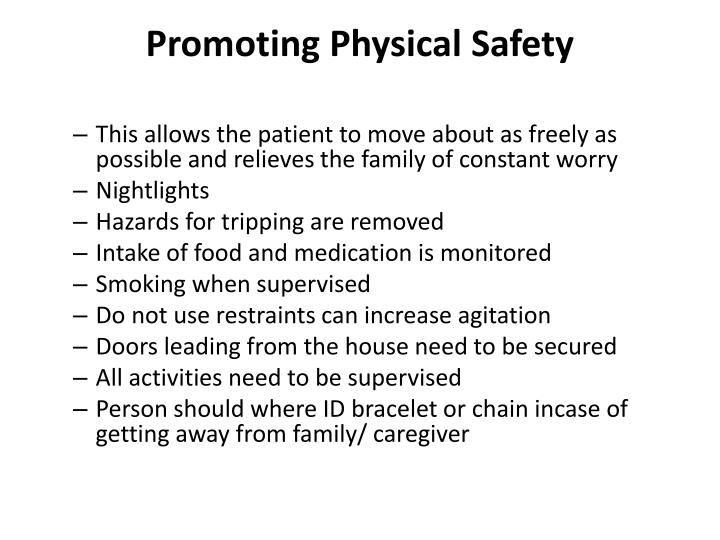 Promoting Physical Safety