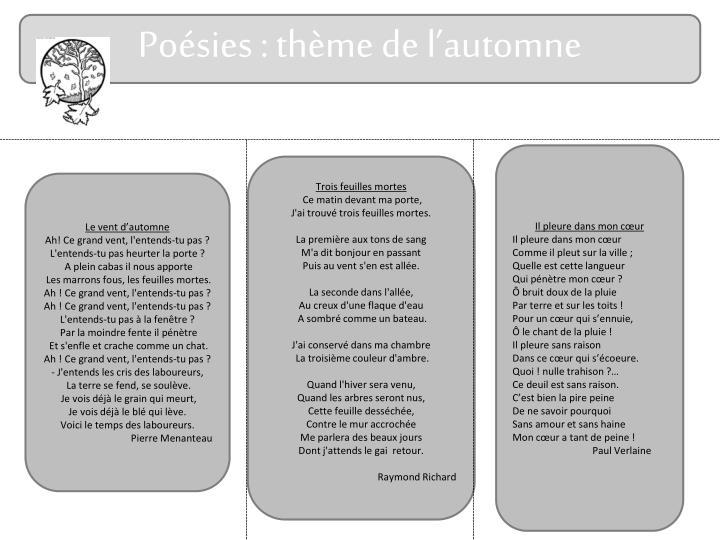 Poésies : thème de l'automne