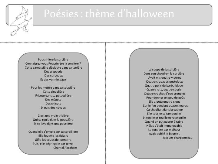 Poésies : thème d'halloween