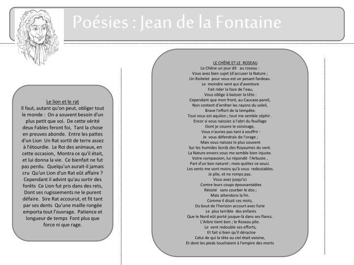 Poésies : Jean de la Fontaine