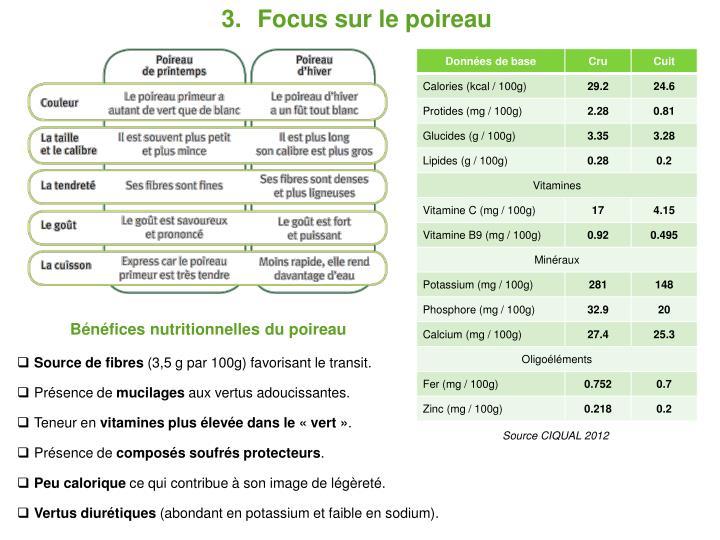 Focus sur le poireau