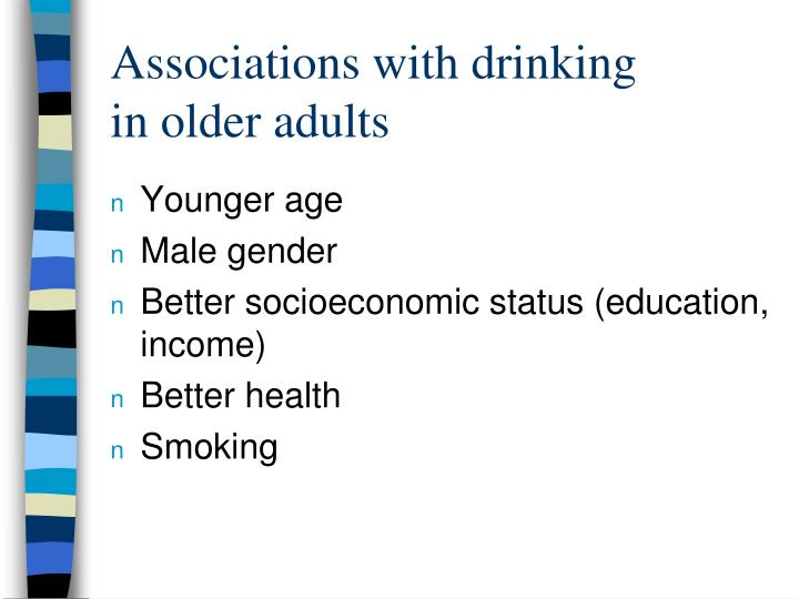 Associations with drinking