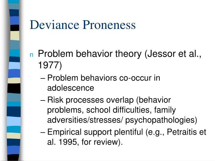 Deviance Proneness