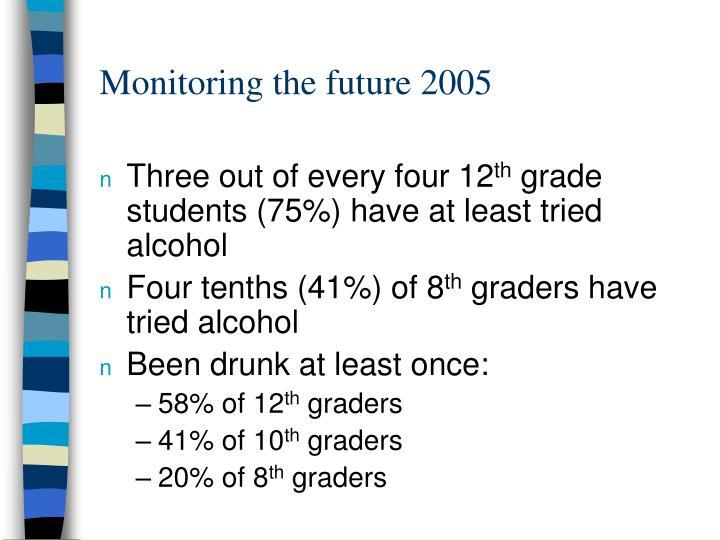 Monitoring the future 2005