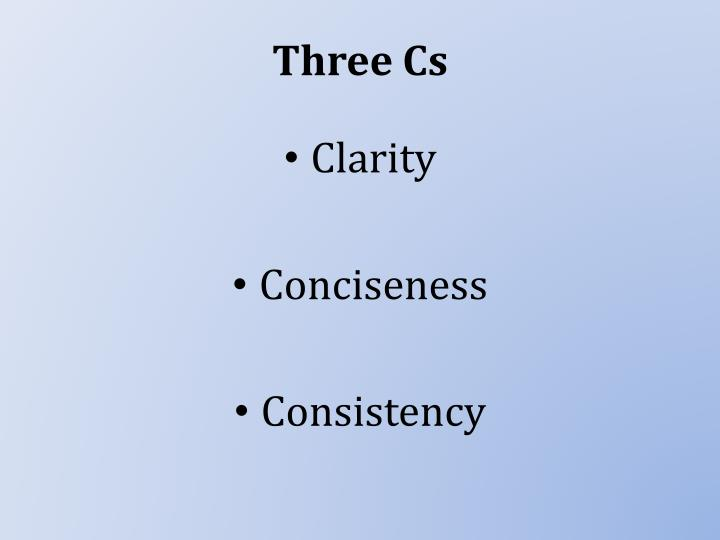 Three cs
